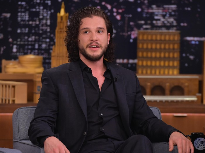 NEW YORK, NY - MAY 13:  Kit Harington Visits The Tonight Show Starring Jimmy Fallon at Rockefeller Center on May 13, 2016 in New York City.  (Photo by Theo Wargo/Getty Images for NBC)