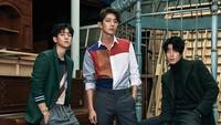 Baekhyun EXO (Pangeran Wang Eun), Lee Jun Ki (Pangeran Wang So) dan Hong Jong Hyun (Pangeran Wang Yo). (Kim Yeong Jun/Cosmopolitan Korea)
