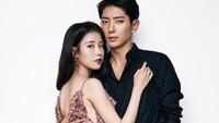 IU sebagai Hae Soo dan Lee Jun Ki yang memerankan pangeran ke-4 bernama Wang So. (Kim Yeong Jun/Cosmopolitan Korea)