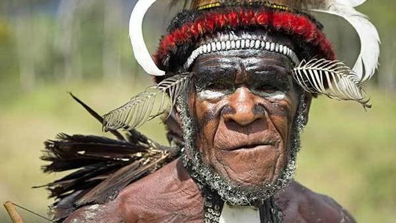Suku Dani di Wamena, Papua (Randy/detikcom)