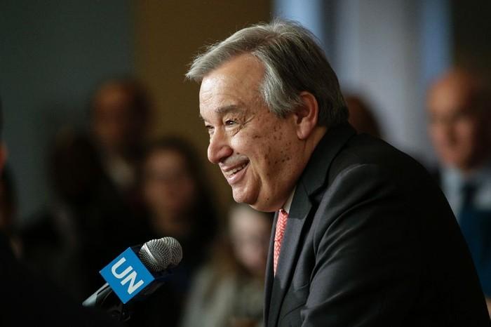 Foto ilustrasi: Sekjen PBB Antonio Guterres (AFP Photo/Kena Betancur)