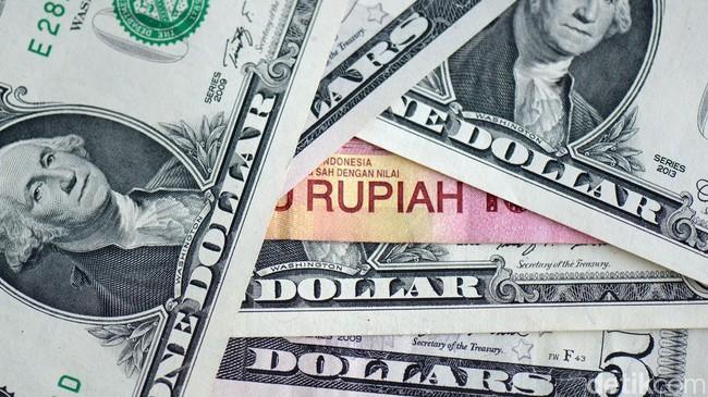 Ilustrasi kurs dolar rupiah