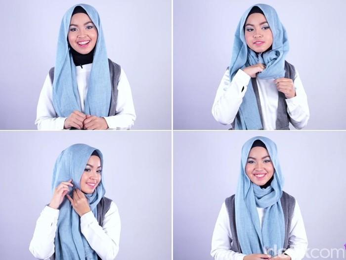 Tutorial Hijab Pashmina Untuk Ke Kampus Kurang Dari 2 Menit