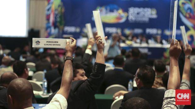 Ilustrasi kongres luar biasa PSSI.