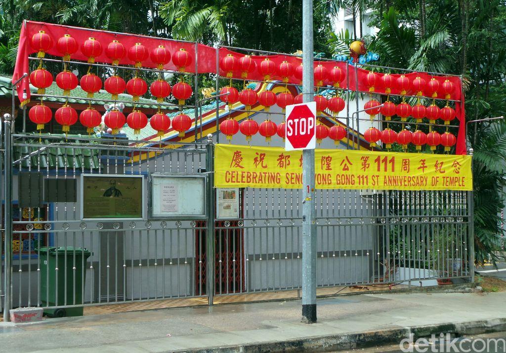 Kelenteng Seng Wong Beo di Kawasan Tanjong Pagar, Singapura yang masih melangsungkan tradisi pernikahan hantu