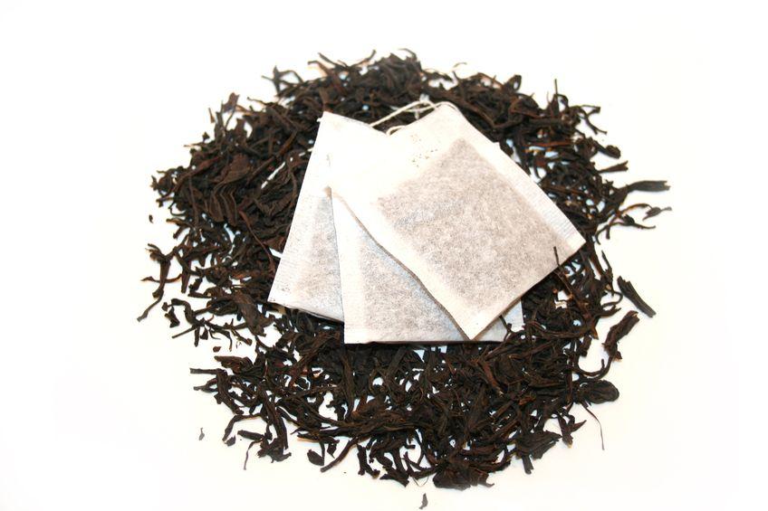 Macro shot of black tea.