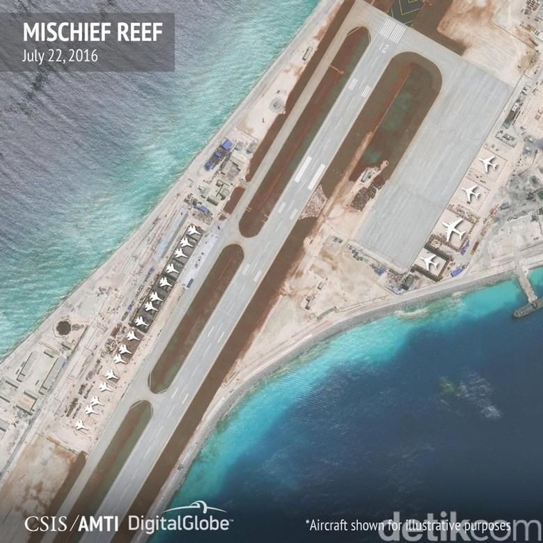 China Bangun Hanggar Pesawat di Laut China Selatan