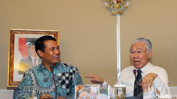 Menteri Pertanian Amran Sulaiman dan Menteri Perdagangan Enggartiasto Lukita/Foto: Ari Saputra