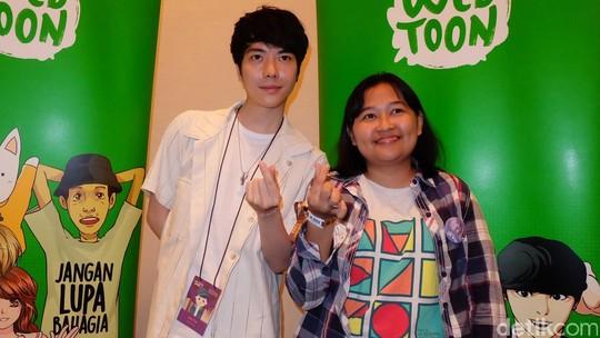 Senyum Park Tae Joon Sapa Penggemar Looksim di Jakarta