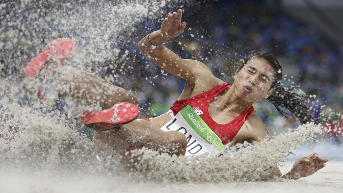 Maria Londa akan tampil di nomor lompat jauh Asian Games 2018. (Foto: REUTERS/Phil Noble)