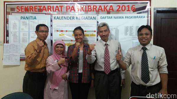 Gloria Masuk Tim Paskibraka, Guru Sekolah: ini Kemenangan Anak Indonesia