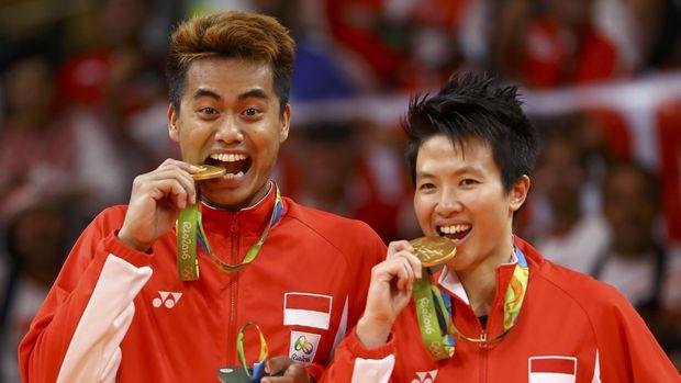 Tontowi/Liliyana raih emas Olimpiade Rio de Janeiro 2016.