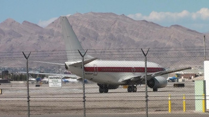 Foto: Pesawat maskapai Janet Airlines (LAX Videography and Spotting/Youtube)