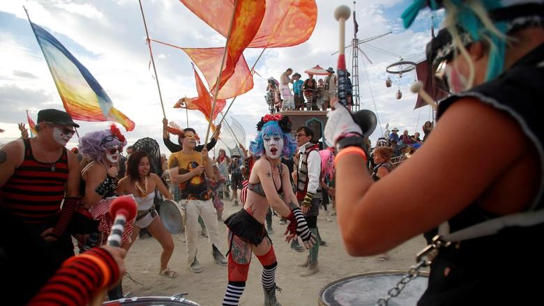 Keramaian di Festival Burning Man (Reuters)