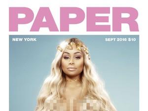 Hamil Anak Rob Kardashian, Blac Chyna Foto di Majalah Paper Tanpa Busana