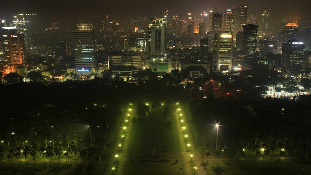 Cantiknya Jakarta di malam hari (Randy/detikTravel)