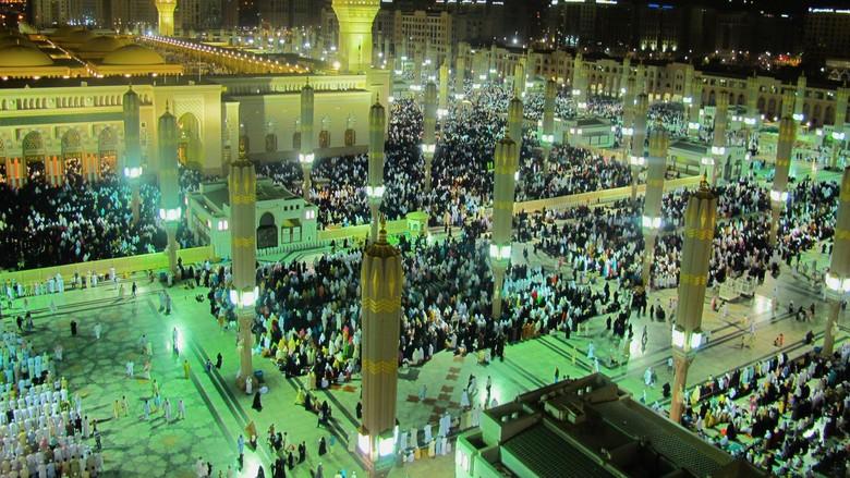 Foto: Masjid Nabawi tempat Raudhah berada (Thinkstock)