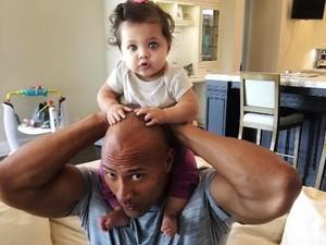 Pesan Menyentuh The Rock buat Putrinya yang Berumur 2 Tahun