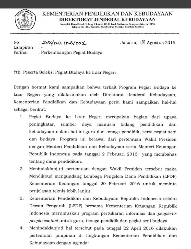 Pegiat Budaya Kirim Surat Ke Jokowi Pertanyakan Program Ke