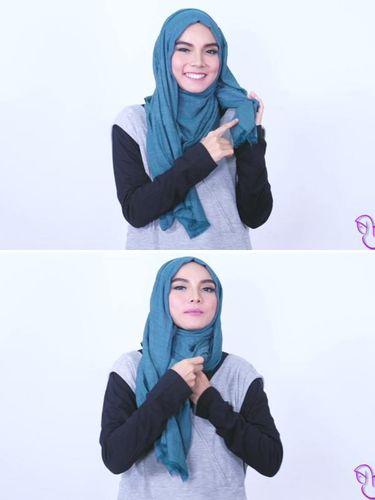 Tutorial Hijab Pashmina untuk Musim Panas