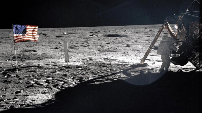 Pendaratan di Bulan oleh NASA. Foto: dok. NASA