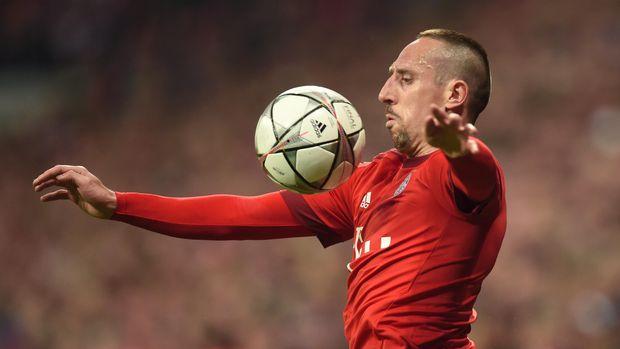 Franck Ribery saat masih bersegaram Bayern Munchen. (