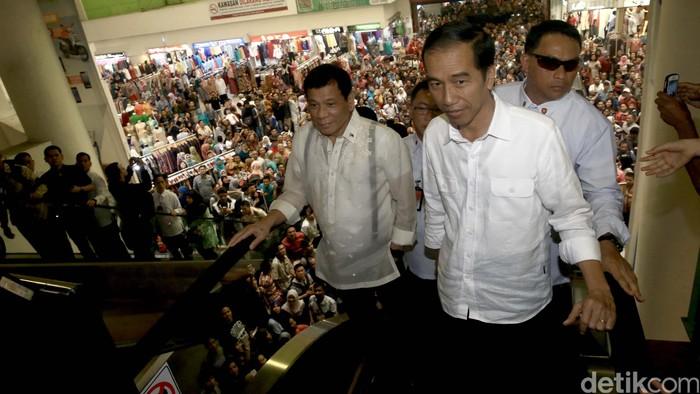 Foto Ilustrasi Jokowi Bersama Duterte (Dok detikcom)