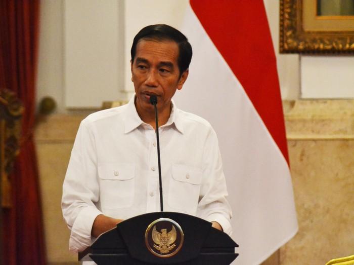Jokowi saat memimipin sidang paripurna kabinet (M Iqbal/detikcom)