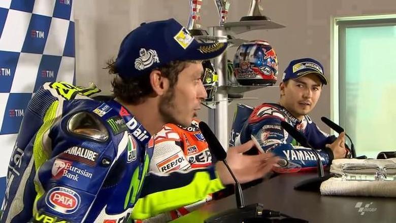 Debat Valentino Rossi dan Jorge Lorenzo