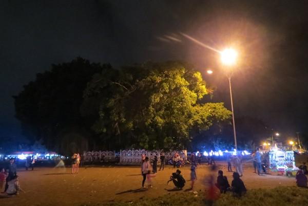 Alun-alun Kidul Yogyakarta punya mitos yang berhubunggan dengan percintaan. Bila kamu gagal melewati pohon beringin dengan mata tertutup, cinta mu akan kandas. (ANTARA FOTO/Hendra Nurdiyansyah)
