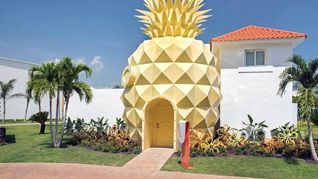 Lucu! Ada Hotel Berbentuk Rumah Spongebob