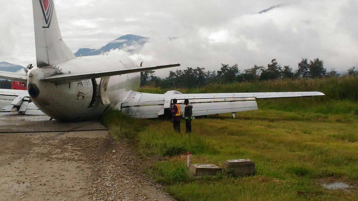 Pesawat Trigana Air Tergelincir di Wamena Papua