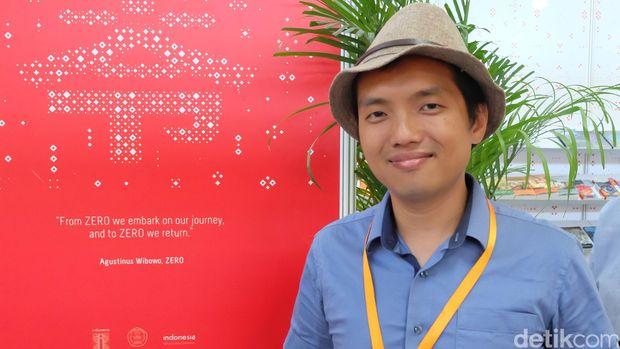 Penulis Agustinus Wibowo di Beijing International Book Fair (BIBF) 2016.