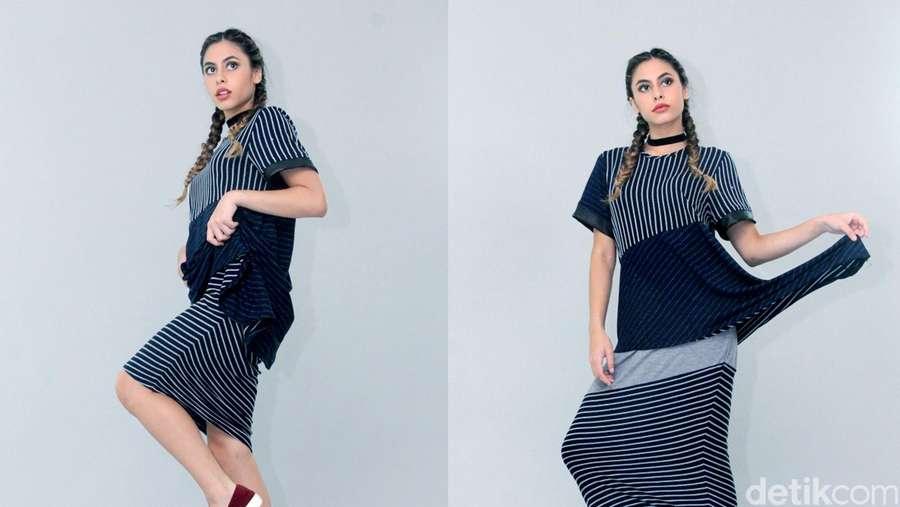 Gaya Valeri Thomas di Pemotretan Clothing Luna Maya
