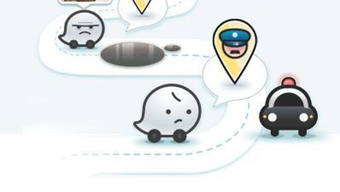 Ilustrasi Waze. (Foto: Screen Shot Waze)