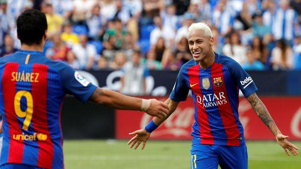 Neymar bermain selama lima musim di Barcelona.
