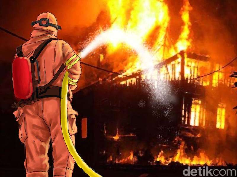 Kantor RW di Pondok Kelapa Terbakar, 2 Unit Damkar Dikerahkan