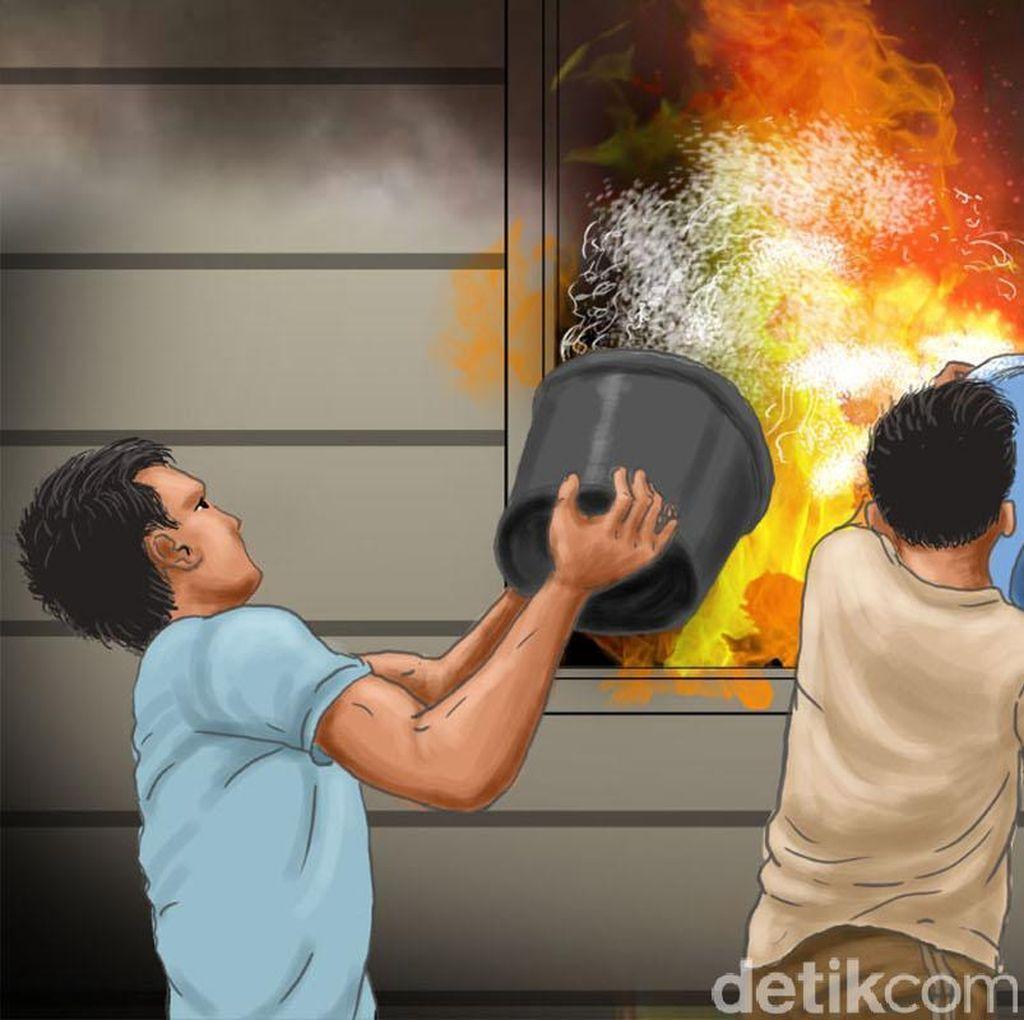 Nenek Enah Tewas karena Kebakaran yang Melanda Rumahnya