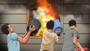 Anak Main Api di Atas Kasur, Rumah di Cilincing Terbakar