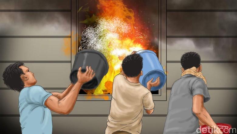 Kebakaran Rumah di Jakbar Akibat Gas Bocor, 5 Orang Terluka
