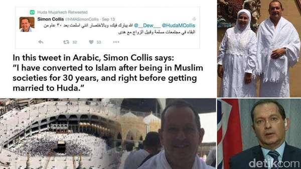 Doa dan Dukungan Mengalir untuk Dubes Inggris yang Peluk Islam dan Berhaji