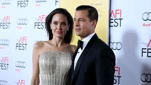 Angelina Jolie dan Brad Pitt Serasi Serba Hitam