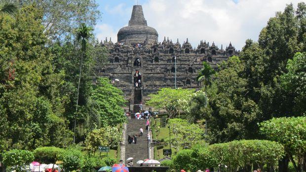 Taman hijau di sekitar Borobudur (Fitraya/detikTravel)
