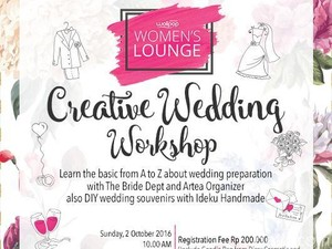Para Calon Pengantin, Yuk Ikutan Wolipop Creative Wedding Workshop