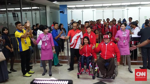 Ni Nengah Widiasih mendapat sambutan sepulang dari Paralimpiade.