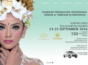 Pameran Pernikahan Tradisional Berlangsung Hari Ini di Balai Kartini