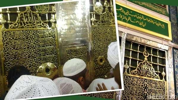 Ziarah Makam Nabi Muhammad di Areal Masjid Nabawi