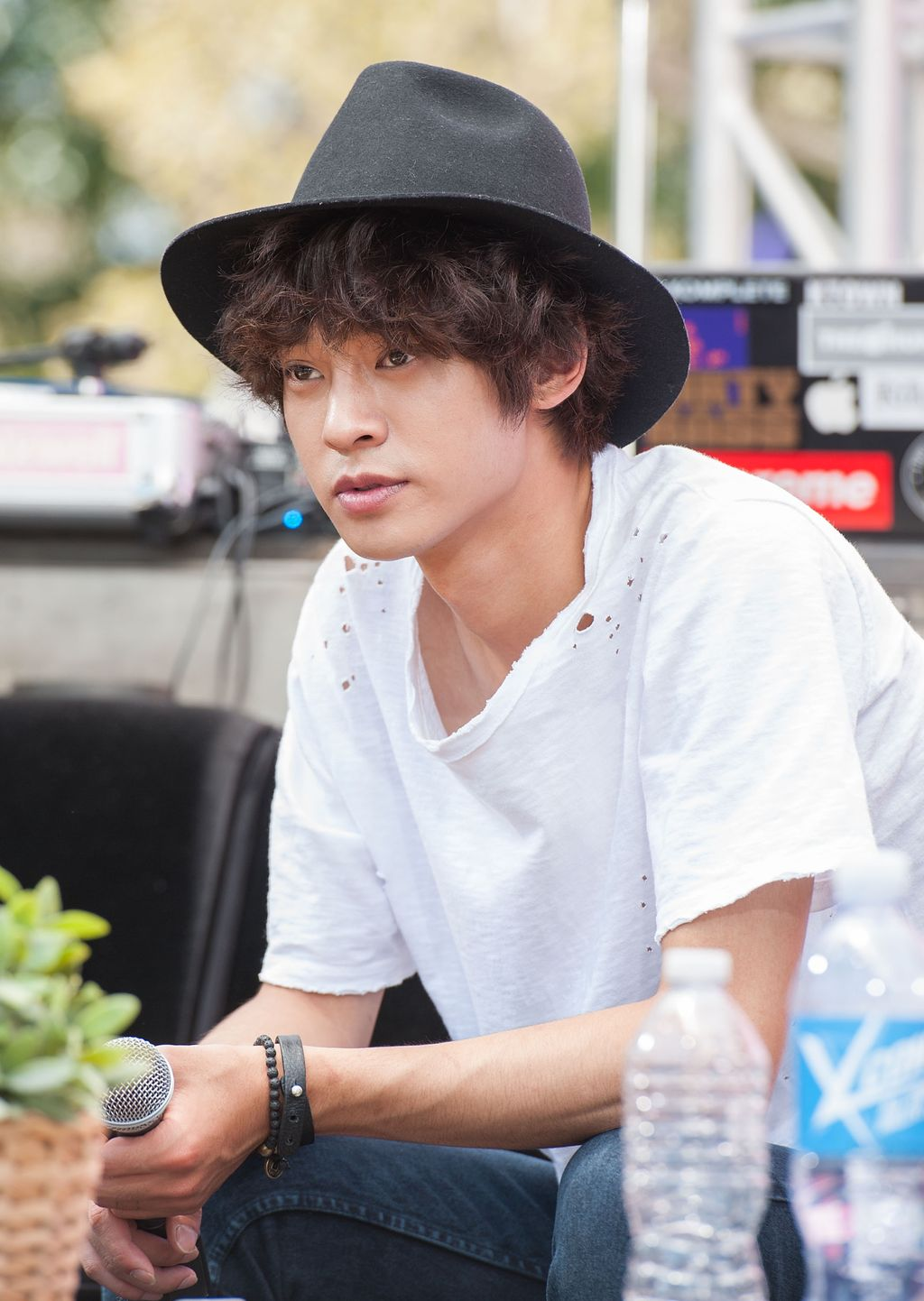 LOS ANGELES, CA - AUGUST 10:  Singer Jung Joon Young attends the Mnet America show Danny From LA (DFLA)  KCON 2014 - Day 2 at the Los Angeles Memorial Sports Arena on August 10, 2014 in Los Angeles, California.  (Photo by Valerie Macon/Getty Images)