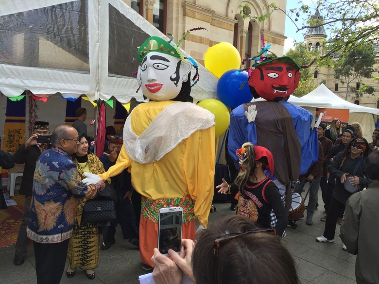 Ondel Ondel Betawi Hingga Tari Tifa Papua Pukau Warga Adelaide