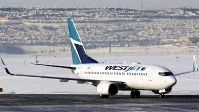 A WestJet Airlines Boeing 737-700 aircraft lands at Calgary International Airport in Alberta January 7, 2010. REUTERS/Todd Korol